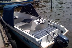 Varen op de Kaag - verhuur motorboot met console